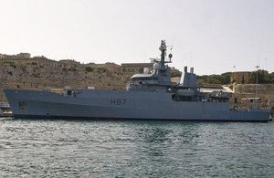 HMS Echo, dockside in Kalkara, Malta (stock image) [Picture: Wikimedia Commons/Heb]