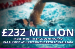 UK invests £232m to support UK athletes to Paris 2024 Olympic and Paralympic Games