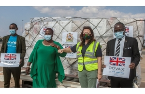 Malawi receives 119,040 doses of Oxford-AstraZeneca vaccine from UK