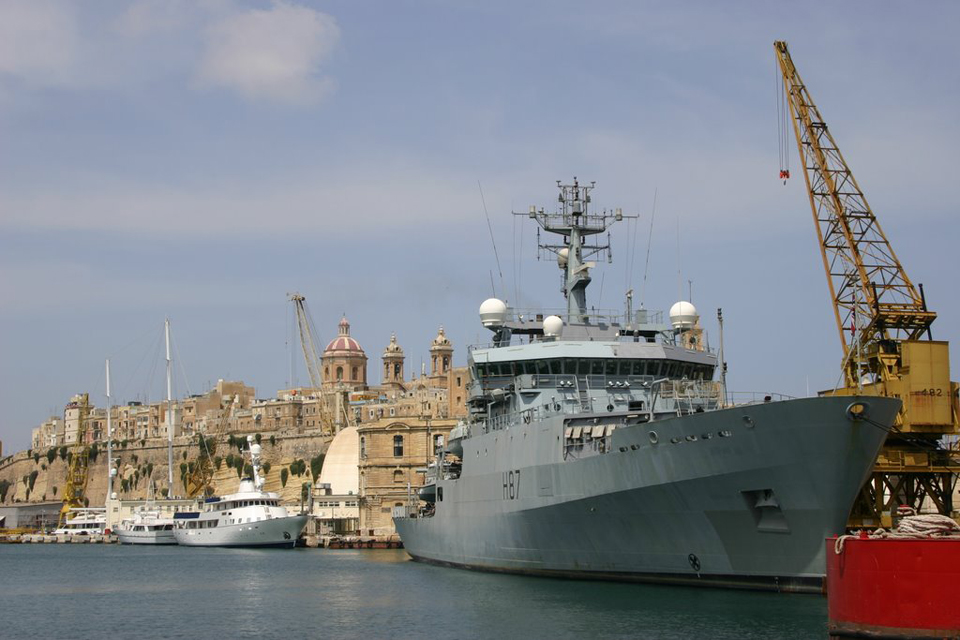 HMS Echo alongside at Malta (stock image)