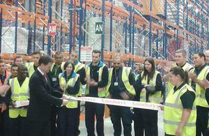 Nick Clegg at Thameside Distribution Centre