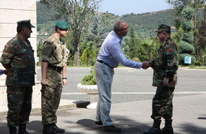 Joint exercise between UK and Albanian armed forces
