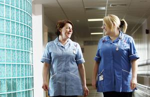 Nurses walking down a corridor