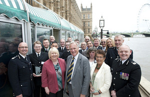 Lord Taylor of Holbeach and the winners of the Lord Ferrers Awards