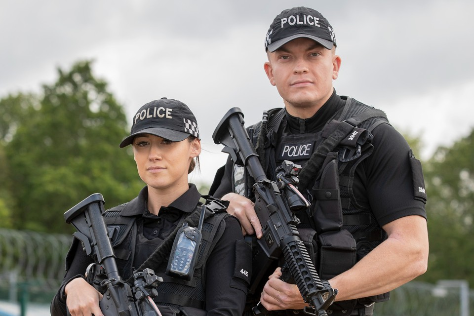 Ministry of Defence Police officers with firearms