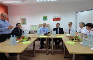 Ambassador Barnett at the meeting with Polish Paralympians in Olsztyn.