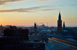 Dawn in Copenhagen.