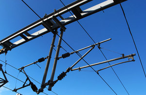 Overhead electric cables.