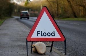 Flood roadside signage