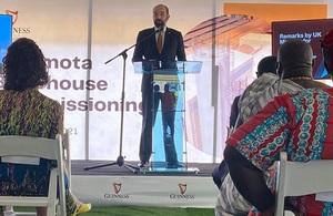 Minister for Africa James Duddridge's visit to Ghana
