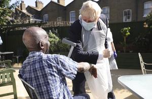 PM Boris Johnson visits Westport Care Home