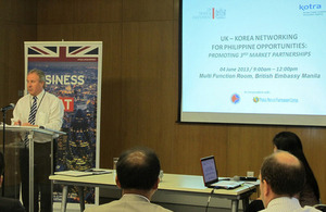 Then UK Trade and Investment Manila Director, Derek Page