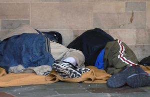 2 people sleeping rough