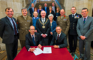 Signing of the Armed Forces Community Covenant at Rochdale Town Hall