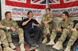 PM in Afghanistan with troops