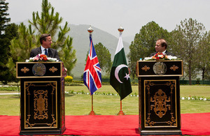 برطانیہ اور پاکستان کے وزرائے اعظم کی جانب سے مشترکہ اعلامیہ۔