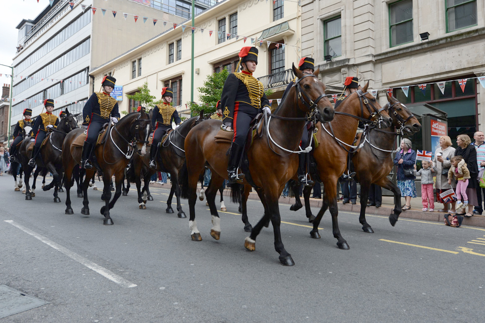 Members of the King's Troop Royal Horse Artillery