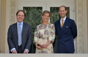 Prince Edward and Countess of Wessex in Romania together with British Ambassador Martin Harris