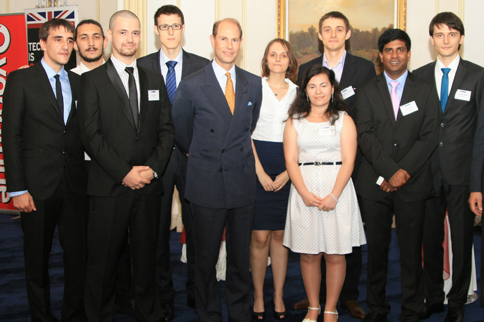 HRH Prince Edward attends the launch of the British Business Portal