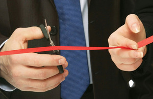 Cutting red tape.