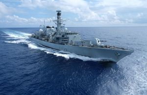 HMS Richmond deployed to the East China Sea