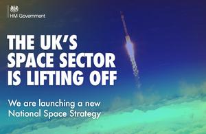 Графика, на которой говорится, что космический сектор Великобритании набирает обороты