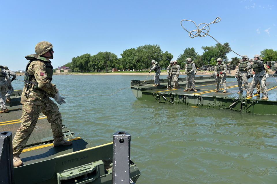 Multinational reservists in South Dakota