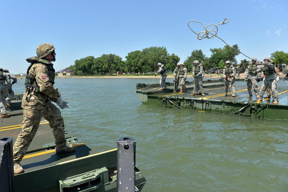 Multinational reservists in South Dakota