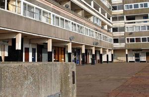 Council flats.