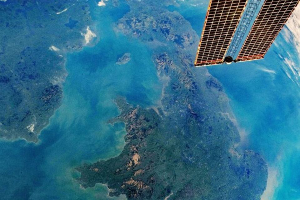 View of the UK from the International Space Station.