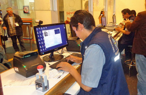 Equipment for data capture and storage at La Paz International Airport