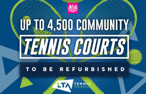 4,500 community tennis courts to be refurbished