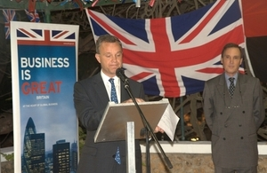 Minister Simmonds during the speech