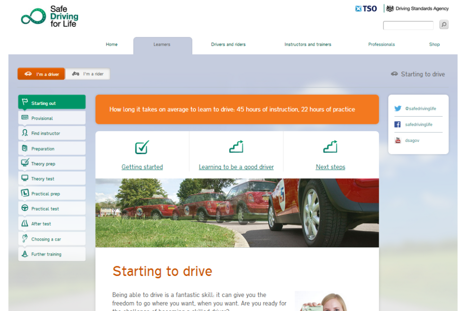 Safe Driving for Life website