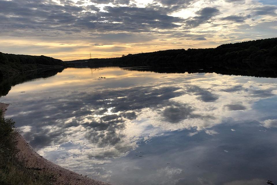 The image shows Wansbeck Lake