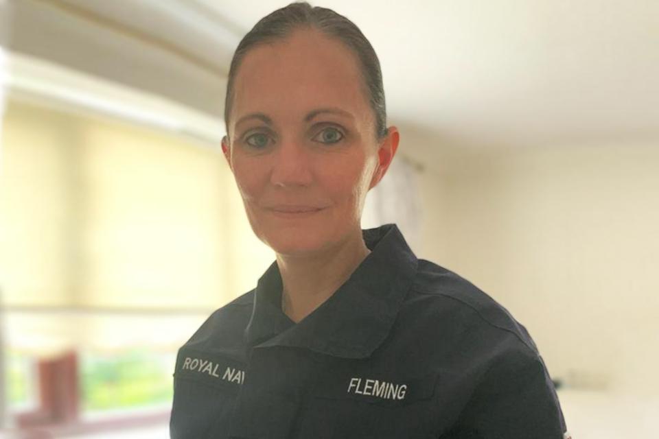 Lt Cdr Ruth Fleming in her Royal Navy Reservist uniform.