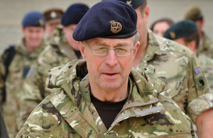 General Sir David Richards, Chief of the Defence Staff [Picture: Corporal Mike O'Neill RLC, Crown copyright]