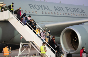 These flights are the first military relocation of eligible Afghans and British nationals since the end of the evacuation from Kabul