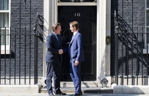 The Prime Minister and Andy Murray at 10 Downing Street