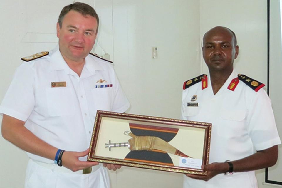 Commodore Tarrant RN and Lieutenant Ali Bouh