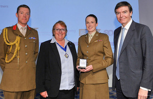 Captain Pip Lines (second from right) with her Churchill Medal [Picture: Crown copyright]