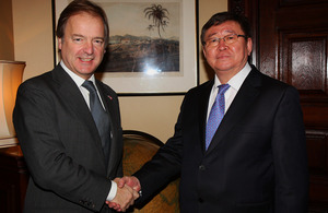 Foreign Office Minister Hugo Swire meets Mongolian Deputy Foreign Minister Damba Gankhuyag