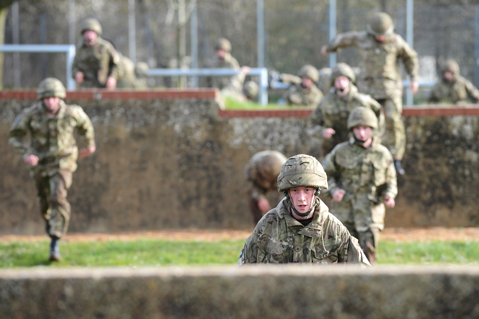 British soldiers training on an assault course (library image)