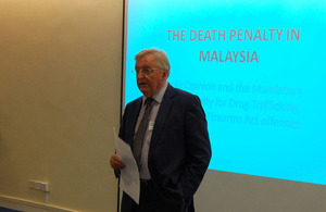 "Talk by Professor Roger Hood on ""The Death Penalty in Malaysia: Public Opinion on the Mandatory Death Penalty for Drug Trafficking, Murder and Firearms Offences"""