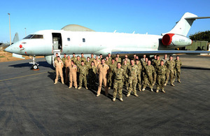 Royal Air Force personnel in front of a Sentinel aircraft in Dakar, Senegal (library image) [Picture: Corporal Laura Bibby RAF, Crown copyright]