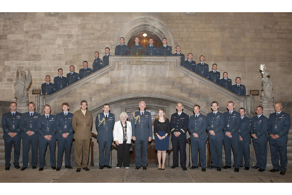 Service personnel and parliamentarians in Westminster Hall