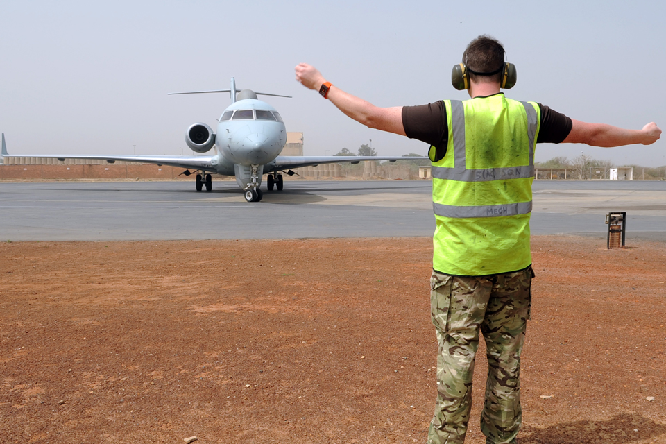 An RAF Sentinel aircraft operating in West Africa (library image)