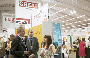 Owen Paterson tours the Summer Fancy Food Show at the Javits Center in New York.