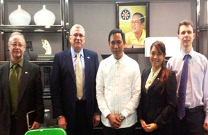 Senior Energy Adviser Angus Miller's courtesy call at the office of Department of Energy (DOE) Secretary Jericho Petilla.