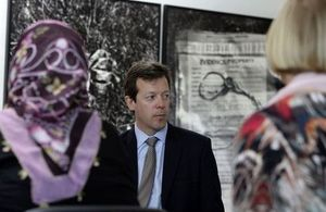 British Ambassador to Bosnia and Herzegovina, Nigel Casey, in the Potocari Memorial Room